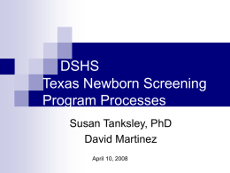 NBS Case Management Processes - Texas Department of State
