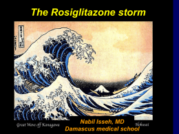 The Rosiglitazone Storm