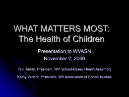 What Matters Most: The Health of Children – A Retreat for School