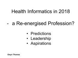 Health Informatics in 2018 - a Re