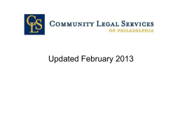 Community Legal Services Welfare-to