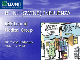 Swine Flu - RBS Medical