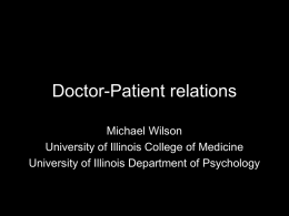 Doctor-Patient relations - University of Illinois Archives