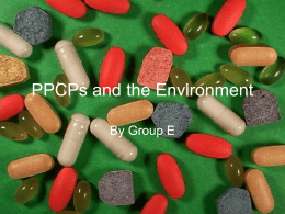 PPCPs and the Environment