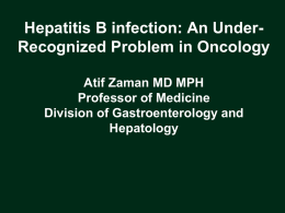 Hepatitis B Reactivation: A Largely Preventable Problem