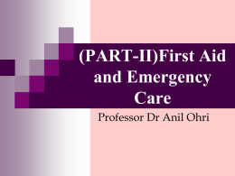 First aid - Ohri | Disaster Ready