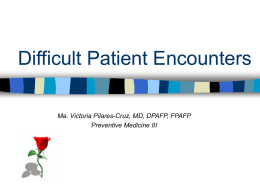 Difficult Patient Encounters