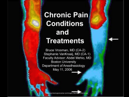 Chronic Pain Problems and Techniques