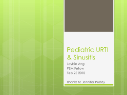 URTI & Sinusitis