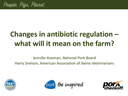 FDA Guidance 213/VFD - National Pork Board