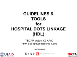 guidelines and practical tools for implementing hospital dots linkage