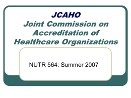 JCAHO Joint Commission