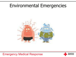 Environment Emergencies