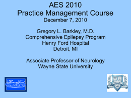 AES 2010 Practice Management Course December 7, 2010