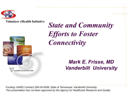 State and Community Efforts to Foster Connectivity