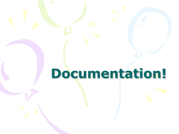 Documentation! - Bakersfield College