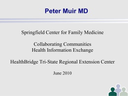 Dr. Peter Muir, Family Practice Physician, Collaborating