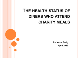 The health status of diners who attend charity meals