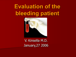 Evaluation of the bleeding patient