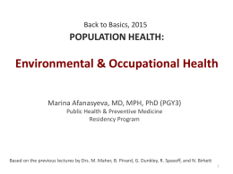 B2B_Occupational__Environmental_health M Afanasyeva 2015
