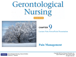lecture 6: chapter 9 Pain Management 2. ppt