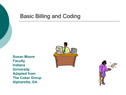 Basic Billing and Coding
