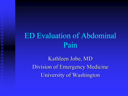 Dr. Jobe`s abdominal.. - University of Washington
