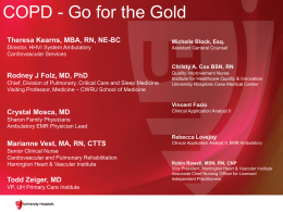 COPD - Go for the Gold - Case Western Reserve University