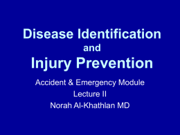 Disease Identification and Injury Prevention