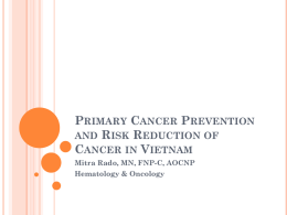 Cancer control and prevention