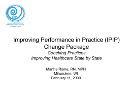 IPIP Change Package Presentation