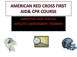 american red cross first aid& cpr training