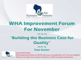 Improvement Forum Topics