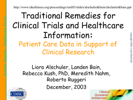 Use of Patient Care Data for Clinical Research