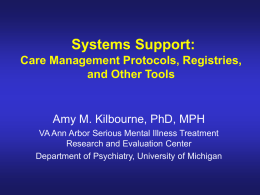 Care Manager Registry