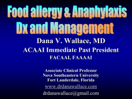 Food-induced Anaphylaxis-Dignosis and Treatment