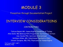 Module 3: Interview Considerations