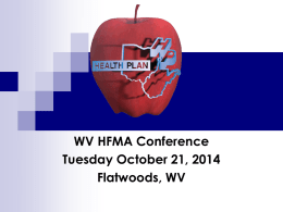 The Health Plan - West Virginia Healthcare Financial Management