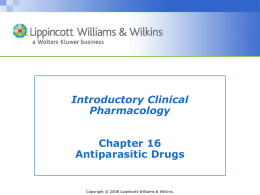 Roach: Antiparasitic Drugs