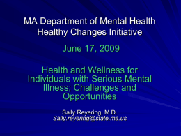 National Wellness Summit for People with Mental Illness