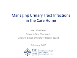 Managing Urinary Tract Infections in the Care Home Setting