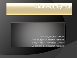 Group2 - JointsWebQuest