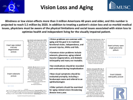 Vision Loss and Aging