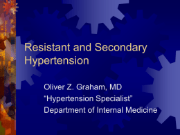 Sexy Topics In Hypertension