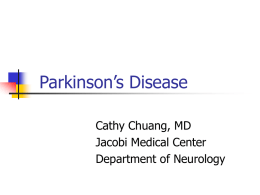 Parkinson`s disease Updated2007