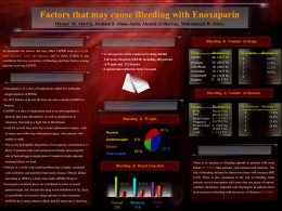 Factors that may cause Bleeding with Enoxaparin