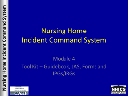 Nursing Home Incident Command System - CAHF