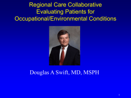 Evaluating Patients for Occupational and Environmental Health