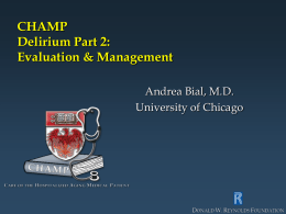 Slide Presentation: Part II - Curriculum for the Hospitalized Aging