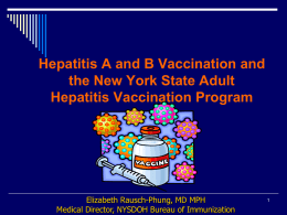Hepatitis A Vaccination - NYS Conference of Environmental Health